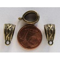 Perles Métal Bronze BELIERE avec ANNEAU Entrelacs par 10 pcs
