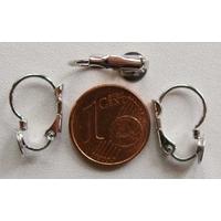 Boucle d'oreilles Dormeuse 16mm avec PLATEAU plat 6mm par 10 pcs