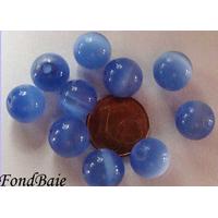 Perles verre Oeil de Chat rondes 10mm BLEU par 10 pcs