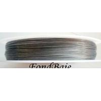 FIL CABLE 0,30mm GRIS ARGENTE par 1 bobine/50m