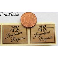Etiquettes JOYEUSES PAQUES dore par 20 pcs