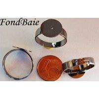 Supports BAGUES plateau 12mm NOIR / Gris hématite par 4 pcs