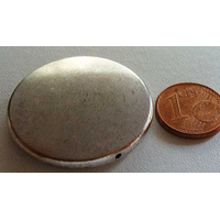 Perle Métal argenté DISQUE simple 32mm par 1 pc