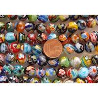 Perles verre très coloré rondes 10mm MIX par 37 pcs