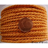 Fil CORDELIERE synthétique 4mm Orange par 1 mètre