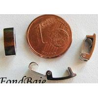 Fermoirs pour bracelet ARGENT VIEILLI simple MOD2 10mm par 5 pcs