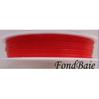 Fil Stretch 0,8mm ROUGE par Bobine 5m env