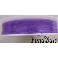 Fil Stretch 0,8mm VIOLET par Bobine 5m env