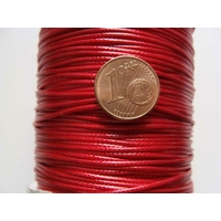 Bobine FIL Mix Coton Nylon 1mm ROUGE par 160 mètres