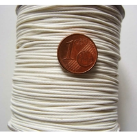 Bobine FIL Mix Coton Nylon 1mm BLANC par 160 mètres