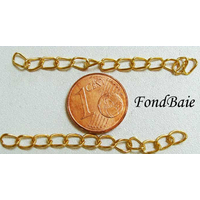Rallonge Chainette 5cm env DORE par 10 pcs