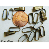 Bélières simple 10mm BRONZE POINTILLE par 20 pcs