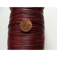 Bobine FIL Mix Coton Nylon 1mm ROUGE FONCE par 80 mètres