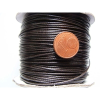 Bobine FIL Mix Coton Nylon 1mm MARRON FONCE par 80 mètres