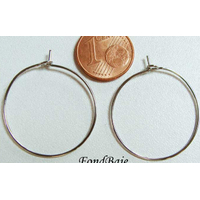 Boucle d'oreilles CREOLE ARGENTE 25mm par 10 pcs