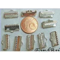 Embouts pour ruban 13mm ARGENTE CLAIR par 10 pcs