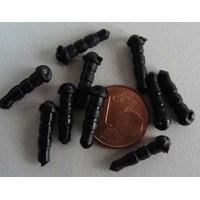 Bouchon anti-poussière Attache plastique Noir par 50 pcs