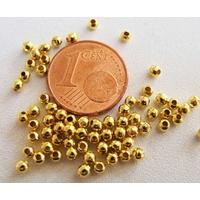Perles Métal DORE RONDES INTERCALAIRES 2,4mm par 200 pcs