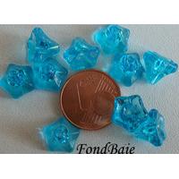 Perles Cones fleurs BLEU 8mm par 20 pcs