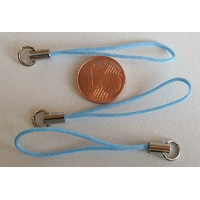 Dragonne Attache portable cordon BLEU avec anneau par 20 pcs