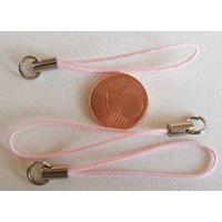 Dragonne Attache portable cordon ROSE avec anneau par 20 pcs
