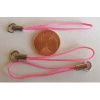 Dragonne Attache portable cordon ROSE FONCE avec anneau par 20 pcs