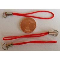 Dragonne Attache portable cordon ROUGE avec anneau par 20 pcs