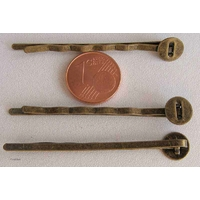 Supports BARRETTE 52mm plateau 8mm BRONZE par 10 pcs