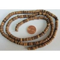 Perles Bois COCO rondelles 5mm par 1 fil 60 cm