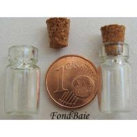 Fioles verre 18x10mm avec bouchon liège par 4 pcs
