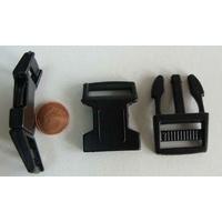 Fermoirs pour bracelet 51x26mm plastique noir par 4 pcs