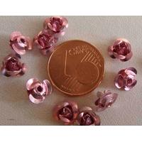 Perles Aluminium Fleur 6mm ROSE FUCHSIA par 20 pcs