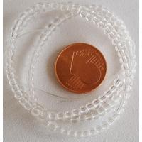 Fil Perles verre simple RONDES 2.7mm TRANSPARENT par 145 pcs