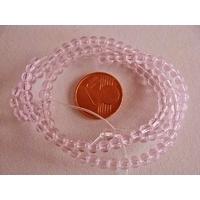 Fil Perles verre simple RONDES 3,5mm ROSE par 100 pcs