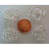 Perles Métal argenté clair 14 à 18 mm x 10 à 12mm par 10 pcs