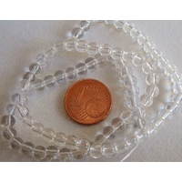 Fil Perles verre simple RONDES 4,5mm TRANSPARENT par 75 pcs
