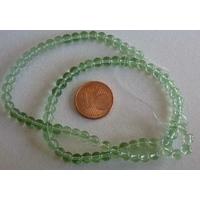 Fil Perles verre simple RONDES 4,5mm VERT par 75 pcs