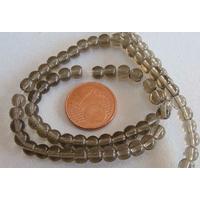 Fil Perles verre simple RONDES 4,5mm GRIS KAKI par 75 pcs