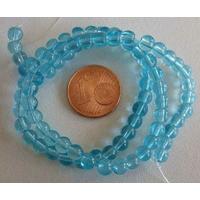Fil Perles verre simple RONDES 4,5mm BLEU CIEL par 75 pcs