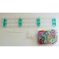 KIT création bracelets en élastiques multicolores (loom bands)