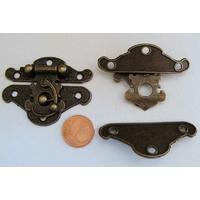 Fermoir Fermeture (2 pièces) 49mm métal couleur bronze par 1 pc