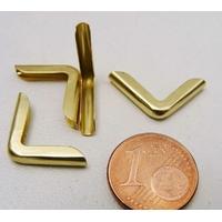 Angle 15x3mm métal couleur doré simple par 20 pcs
