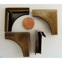 Angle 33mm métal couleur Bronze simple par 8 pcs