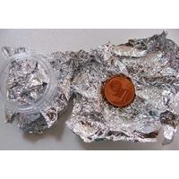 LOT 3 feuilles métal argenté 8x13cm env très fines