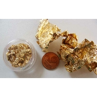 LOT 3 feuilles métal doré 8x13cm env très fines