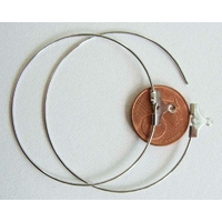 CREOLE ARGENTE 40mm Anneaux support Boucles d'oreille par 10 pcs