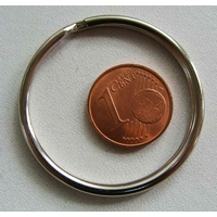 Anneaux brisés 35mm PORTE-CLE simple argenté par 5 pcs