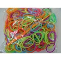 Sachets élastiques MIX2 couleurs ECONOMIQUE unies par 300 pcs