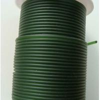 Fil caoutchouc synthétique 2mm VERT FONCE par 2 mètres
