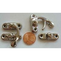 Fermoir Fermeture (2 pièces) 33mm métal couleur Argenté Acier par 1 pc